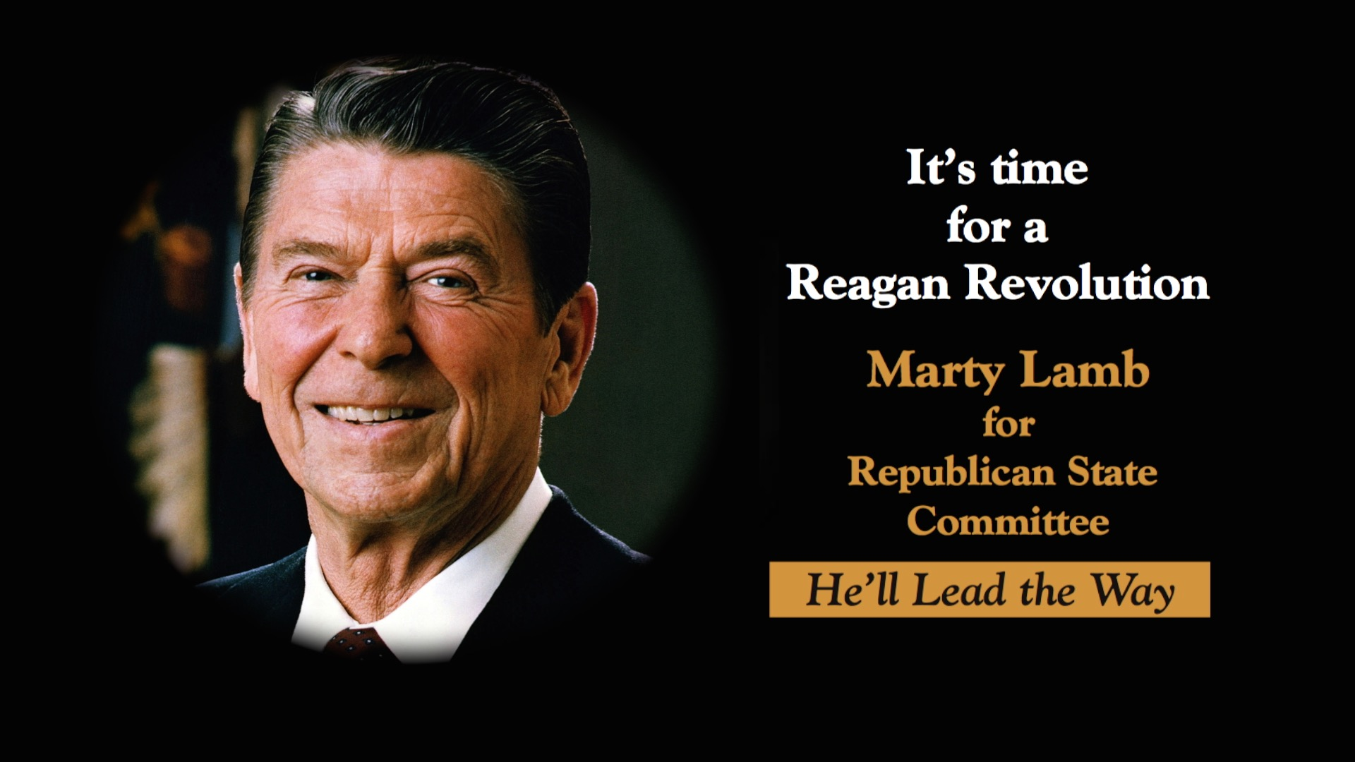 Time for a Reagan Revolution Vote Lamb RSC